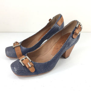 Anthropologie Tabita 6 Brown Snake Print heels